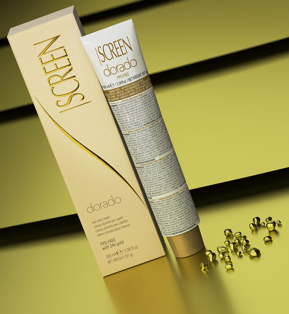 Hair coloring cream, PPD-free, with 24-K gold_2